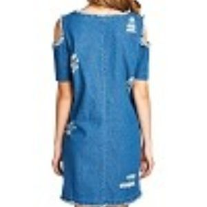BOUTIQUE Dresses - NEW Denim distressed details open shoulder dress